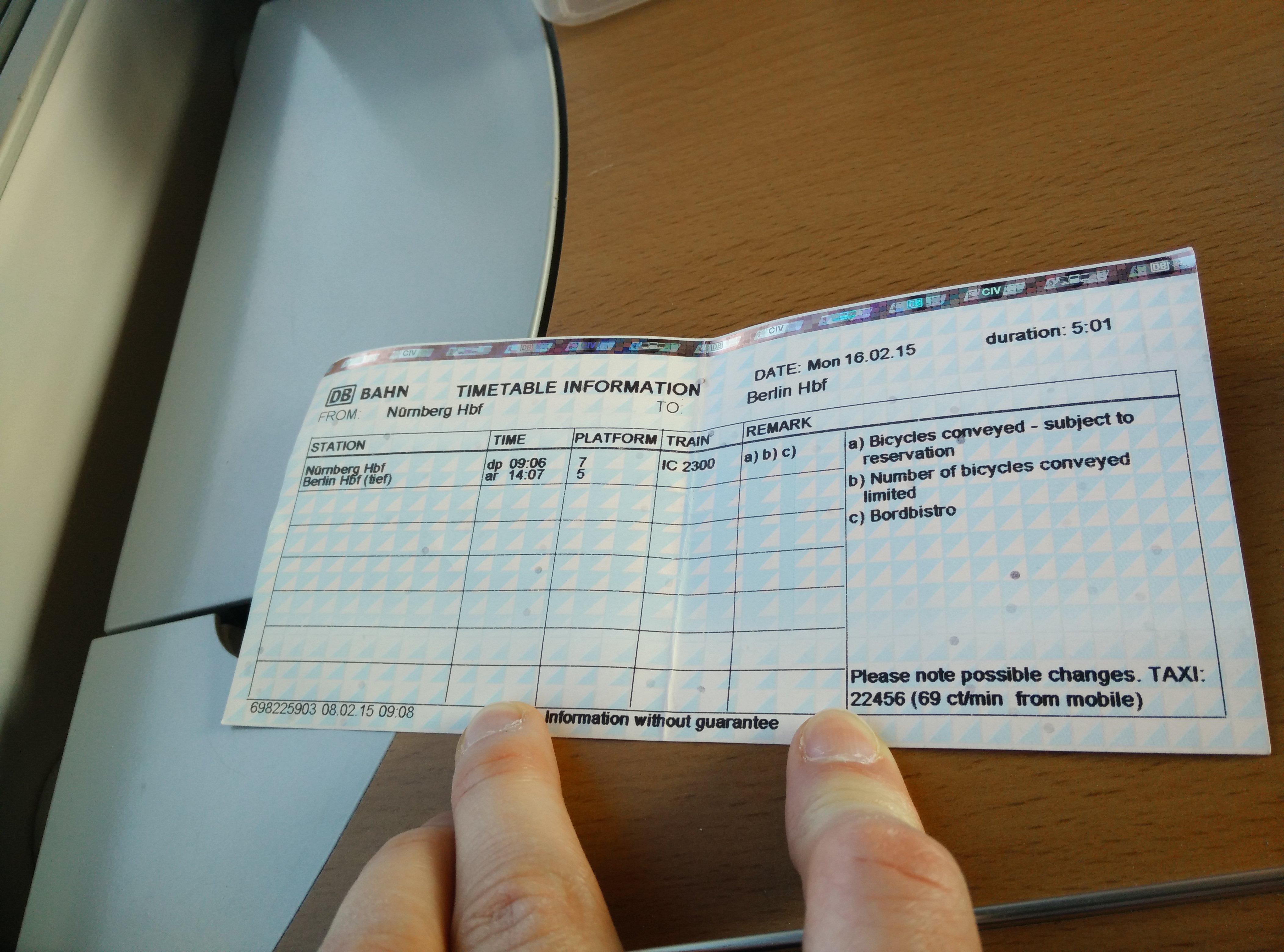 deutsche bahn itinerary